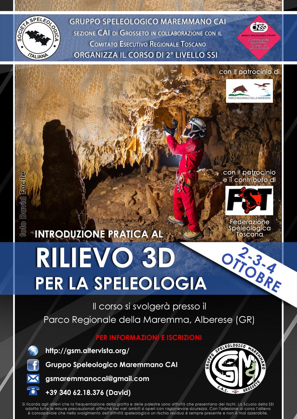 Corso di Introduzione pratica al rilievo 3D per la speleologia